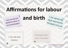 Affirmations for labour and birth