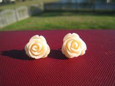Cabochon Rose Studs love roses