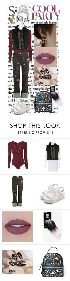 """Vertical journey"" by lolakelley ❤ liked on Polyvore featuring Roberto Cavalli, Valentino, Jeffree Star and Steve Madden"