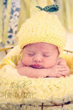 Little Lemonhead crochet made to order newborn by BeccasBeanies