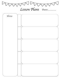 Miss Nicoles Preschool Weekly Lesson Plan Template Education - Free daily lesson plan template printable