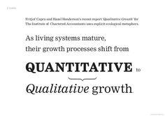 Siirtyminen määrällisestä kasvusta laadulliseen kasvuun