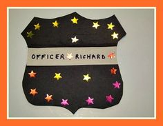 labor day crafts for kids Police-Officer-Badge-Craft-For-Kids Police Officer Crafts, Police Officer Badge, Police Crafts, Community Workers, School Community, Community Helpers Crafts, People Who Help Us, Classroom Fun, Toddler Classroom