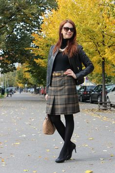 Checkered skirt http://www.margifashion.blogspot.com