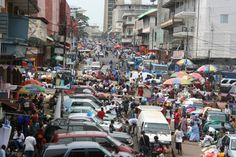 Freetown, Sierra Leone. Half the country's population lives in this one city.  Amazing.
