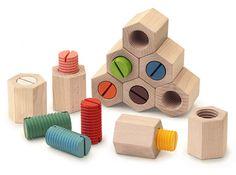 Rakuten: HEXAGONAL TWIST BLOCKS Wooden Toys (Ginga Kobo Toys)