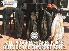 "A business suit after Spartan Race. Robert Krause Consulting - ""All progress takes place outside the comfort zone."" http://www.robert-krause.com - photo: www.unsplash.com"