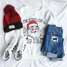 Cupshe Get Lucky Santa Claus Sweatshirt