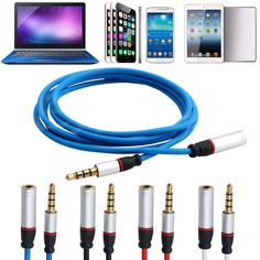 Jack 3.5mm Audio Extension Cable Macho a Hembra de Audio Estéreo Para Auriculares cable de extensión 1.2 m cable adaptador para iphone 6 6 s mp3 4