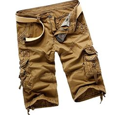 abc6420d3e Panegy Mens Casual Work Cotton Beach Sports Board Golf Surf Cotton Fabric  Cargo Kahki Size 29   To view further for this item