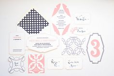 Maemae Paperie-love the color combo and graphic yet romantic feel.