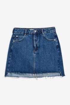 Stepped Hem Denim Skirt - New In Fashion - New In - Topshop