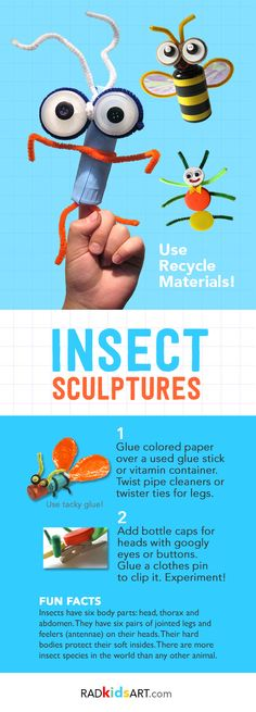 Upcycle Insect Sculptures using everyday materials!
