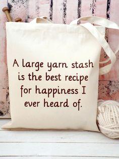 A large Yarn Stash Knitting Bag Kelly by KellyConnorDesigns, £13.75