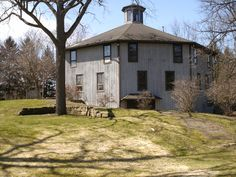 Hudson Ohio octagonal barn..was converted to offices...now empty.