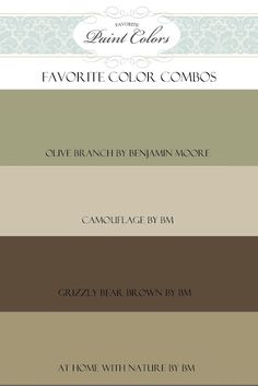Favorite Paint Colors Great Site To See In Actual Rooms Lots Of Choices With Color Names Olive Branch By Benjamin Moore For