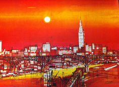 Cleveland painting found on the I Heart Cleveland blog
