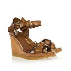 Cheap Isabel Marant Handy Wedge Sandal Tan Fonce cuir a Hot Sale, Discount Isabel Marant Sneakers