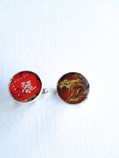 Year of the Dragon Upcycled Postage Stamp Cufflinks by Rachel Smith of senselessart  on ETSY https://www.etsy.com/hk-en/listing/151660850/year-of-the-dragon-upcycled-postage?ref=shop_home_active