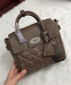 2014 New Mulberry Mini Cara Delevingne Bag Taupe Quilted Nappa