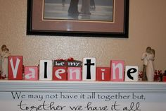 Be My Valentine home decor wood valentines day by invinyl