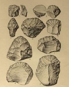 vintage nature illustrations rocks flint - Google Search