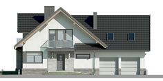 Unique Country House Plan With Four Bedrooms And Three Bathrooms - House And Decors Classic House Design, Modern House Design, Modern Architectural Styles, Porch House Plans, French Country House Plans, Modern Architecture House, Modern House Plans, Home Design Plans, Design Case