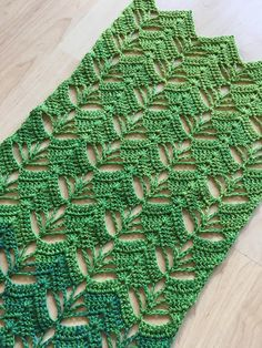 The Forest Through the Leaves Shawl features a solid leaf shaped pattern. If you look between the leaves, you can see a forest of lacy trees. Knitted Shawls, Crochet Shawl, Crochet Scarves, Crochet Hooks, Crochet Baby, Knit Crochet, Afghan Crochet Patterns, Crochet Stitches, Knitting Patterns