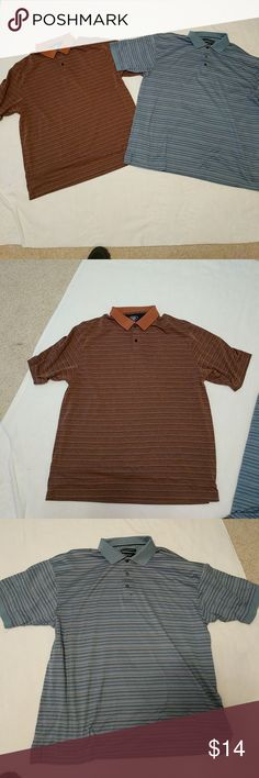 Bundle of two polos The brown Polo is by Hagar. The blue polo is by Sedgefield Shirts Polos