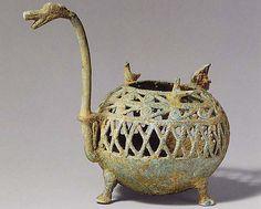 Incense Burner with Dragon Spout  Date: 1st–3rd century Culture: Vietnam Medium: Bronze Dimensions: H. 6 1/4 in. (15.9 cm) Classification: Metalwork Credit Line: Samuel Eilenberg Collection, Bequest of Samuel Eilenberg, 1998 Met 2001.433.161
