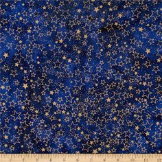 Island Batik Metallic Stars Royal/Gold from @fabricdotcom  Designed by Island Batik, this Indonesian batik is perfect for quilting, apparel, and home décor accents. Colors include royal blue with gold accents.
