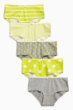 160c0a3a57 Buy Grey Yellow Hipsters Five Pack (3-16yrs) online today at Next