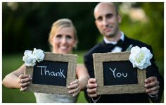 Chalkboard Thank You Signs