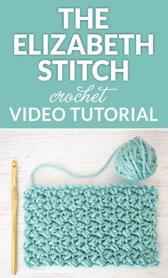 The Elizabeth stitch is absolutely beautiful - it's an easy stitch to crochet and once you get going, you'll be able to do it in your sleep.