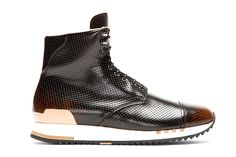 Alexander McQueen Punch-Hole High-Top Sneakers Black