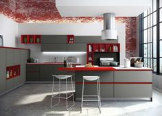 What d'you mean, Handleless Kitchens? Handleless Kitchen, German Kitchen, Kitchen Gallery, Küchen Design, Corner Desk, Kitchen Cabinets, Layout, Table, Furniture