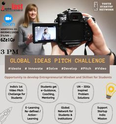 JOIN TODAY SESSION WITH INTERESTING TOPIC *GLOBAL IDEAS PITCH CHALLENGE* India's first Video based Pitch Competition for Students. (By Youth Startup Network) Who Can Attend This Students Parents School College Business Owner *INDOFAST BUSINESS NETWORK* (Always Connect With Some Special Topic Don't Ignore it Join the Session and learn) Zoom meeting I'd 6039611826 Pass 6Ze1Gy #youthstartup #school #college #students #parents #innovate #ideate #solve #pitch #video Entrepreneurship Education, Interesting Topics, Business Networking, Training Programs, Digital Media, College Students, Pitch, Kids Learning, Connect