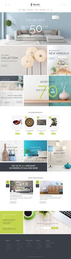 Home Decor & Accents Online Store #OpenCart #webtemplate #themes #business #responsive #template