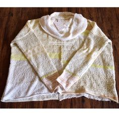 FREE PEOPLE Sweater Chic Loose Knit Turtleneck Top Size Medium. New With Tags. $168 Retail + Tax.   Oversized, loose knit pullover featuring fuzzy striped detailing and cowl neck.  Mixed pattern design. Comfy, cozy, soft feel.  Acrylic, cotton, wool, nylon, polyester.  Imported.      ❗️ No trades, holds or modeling.    Bundle 2+ items for a 20% discount!    Stop by my closet for even more items from this brand!  ✔️ Items are priced to sell, however reasonable offers will be considered when…
