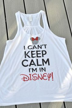 I can't keep calm I'm at Disney! Check out these delightful Bella racerback Glitter Tank Tops fr Disney Shirts For Family, Disney Family, Disney Couples, Couple Shirts, Family Shirts, Disney Vacations, Disney Trips, Disneyland Trip, Family Vacations