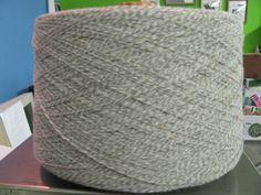 2/15 Tan and Grey Marl Acrylic Yarn, Cone Yarn, Acrylic Yarn by stephaniesyarn on Etsy