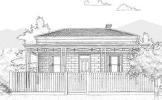 Mid Victorian House - What House Is That? Georgian Architecture, Australian Architecture, Australian Homes, Victorian Terrace House, Victorian Homes, What House, Modern Shed, Facade House, House Facades