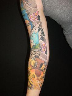 totoro sleeve tattoos.
