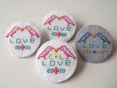 Hen Do Love Badges by teasemade, via Flickr
