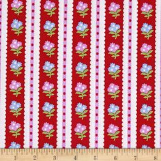Cynthia Rowley Paintbox Striped Garden Red from fabric.com