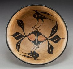 Santo Domingo Polychrome Bowl, c. 1930