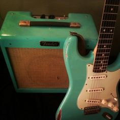 Sea foam green for me #guitar #vintage                                                                                                                                                      More