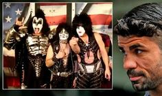 Chelsea get good luck message from band KISS as Blues prepare to Rock and Roll All Nite against Liverpool...