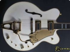 """1980 Gretsch 7595 White Falcon Stereo.   Gretschs top of the line model, last of the """"Made in USA"""" line, in near mint condition."""