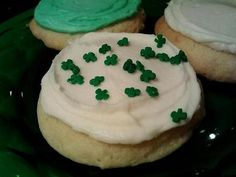 St. Patrick's Sour Cream Soft Iced Cookies